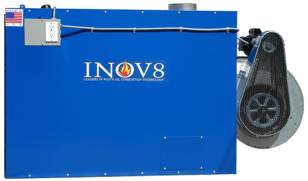 INOV8 Model F450 Waste Oil Furnace - side view