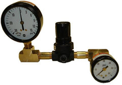 Oil regulator and gauge assembly for INOV8 boilers