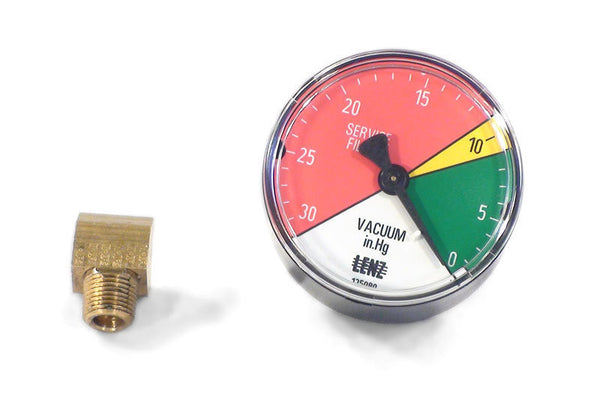 Oil Filter or Strainer Vacuum Gauge for Waste Oil Heaters and Furnaces