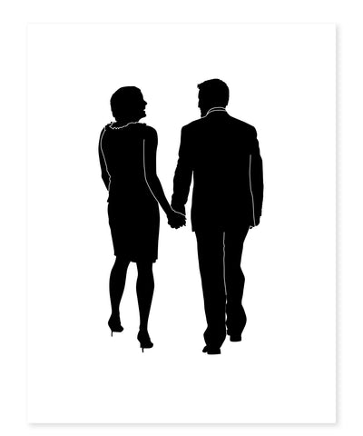 Custom Couples' Silhouette