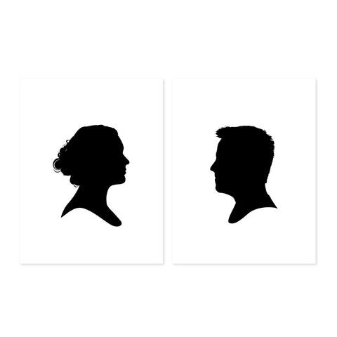 Pair of Custom Profile Silhouettes