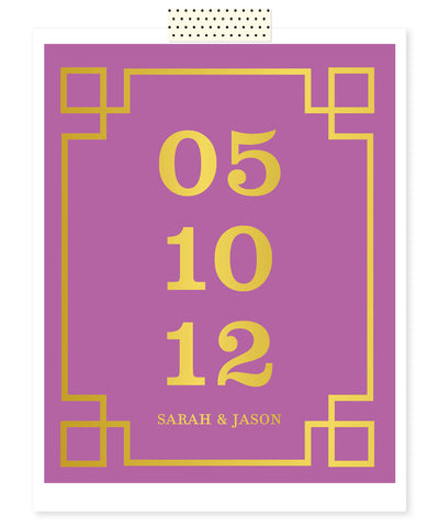 Important Date Art - Wedding Date Print