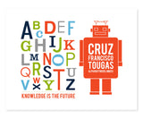 Robot Alphabet With Your Name