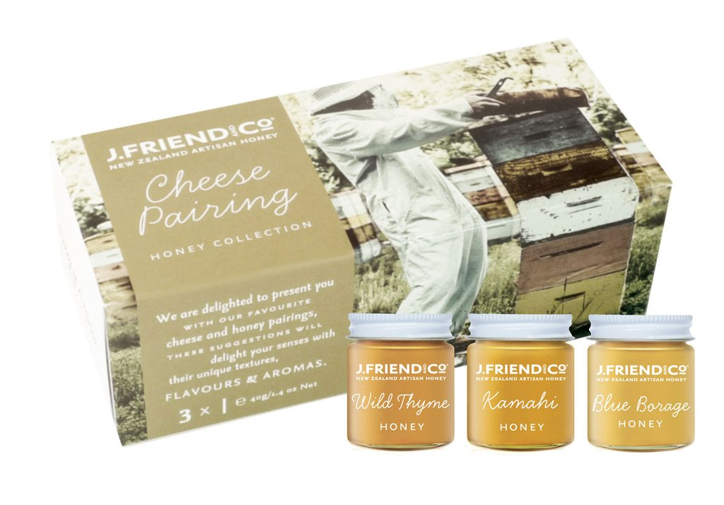 New Zealand cheese pairing honey set