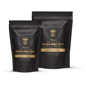 15+ UMF Manuka honey & propolis throat drops.
