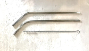 Metal drinking straw, stainless steel, eco friendly, 6mm