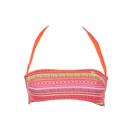 Amalfi - Aztec + Orange Reversible Bandeau Top