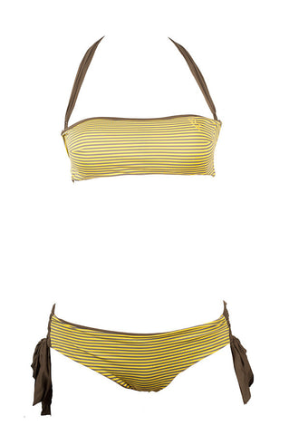 Amalfi - Yellow Stripe + Olive Reversible Bottoms