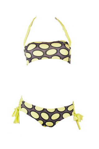 Amalfi - Yellow Bubble + Yellow Reversible Bandeau Top
