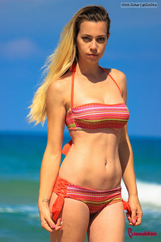 Amalfi - Aztec + Orange Reversible Bottoms