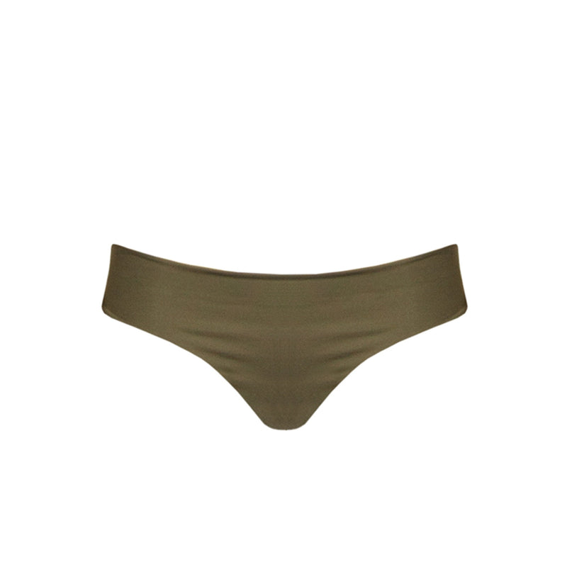 Capri Brazilian Bottom: Olive Stripe