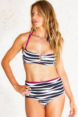 Salina Hi-Lo Foldover Bottom: Zebra Purple