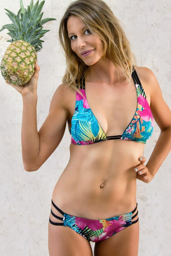 Stromboli Strappy Bottom: Tropical Flower