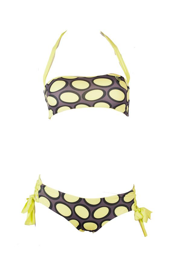 Amalfi Bandeau Top: Yellow Bubble