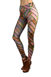 Brick sidewalk pattern legging
