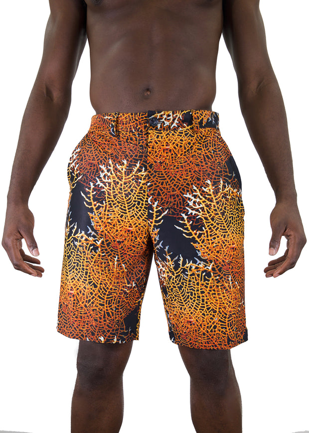 mens woven patterned shorts