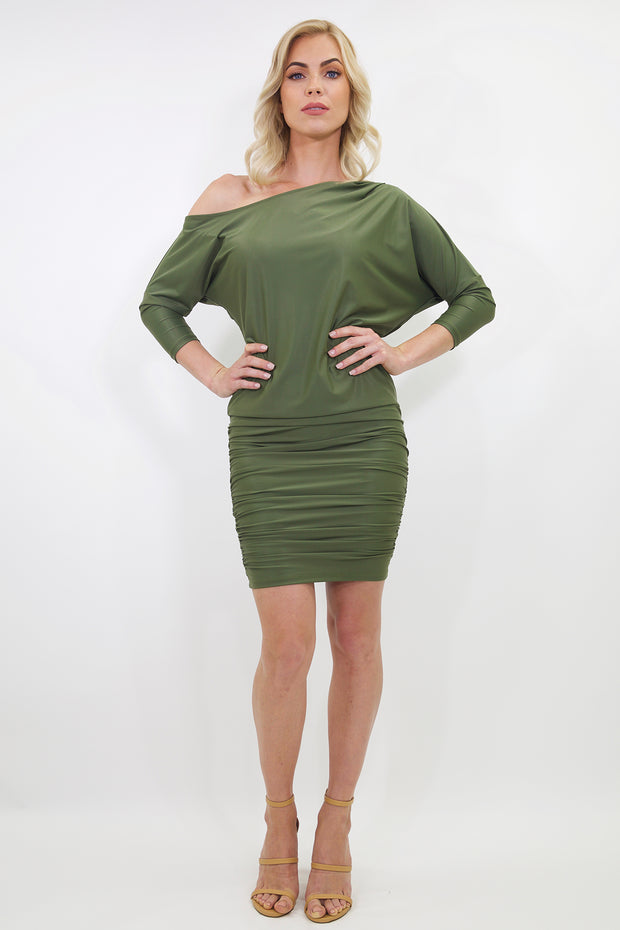 off-the-shoulder slimming miranda dress