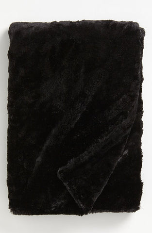 Black Throw (made to order)