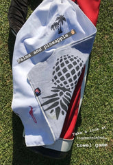 Palm and Pineapple golf towel