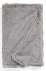 Grey Silky Throw