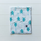Turquoise arrow muslin single sided receiving