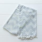 Gray/Silver Zig Zag wrap/cover-up Throw Blanket