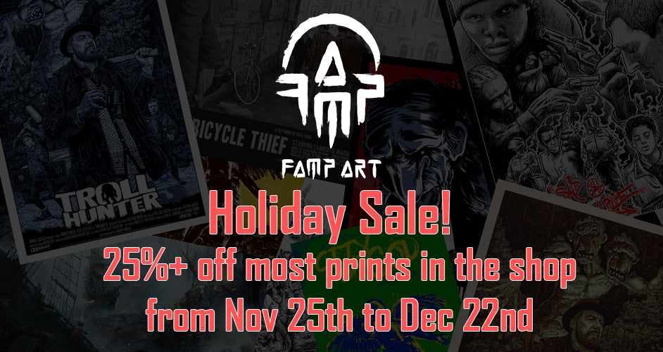 FAMP Art Holiday Sale – 25%+ Off Most Prints in the Shop