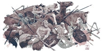 'Eighth Labour: Mares of Diomedes' Print by AJ Frena
