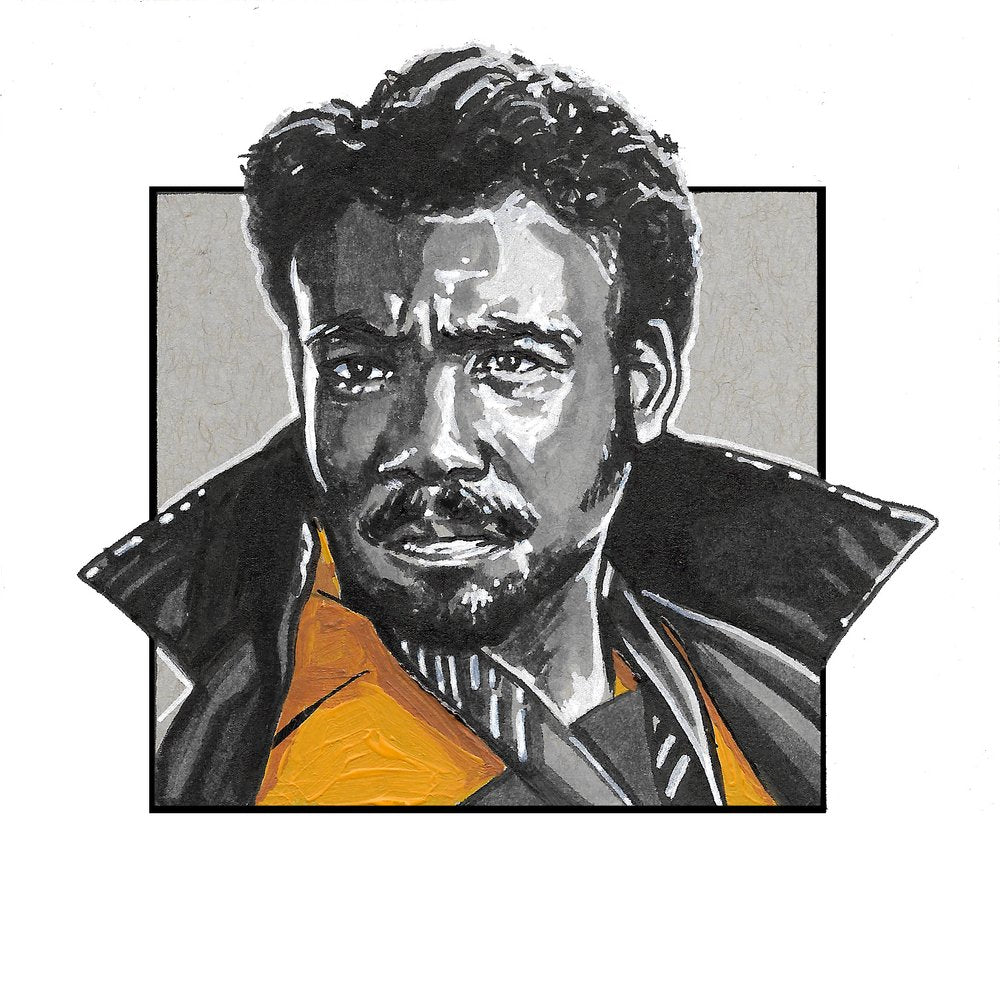 Lando Calrissian - Square Print by Robert Bruno