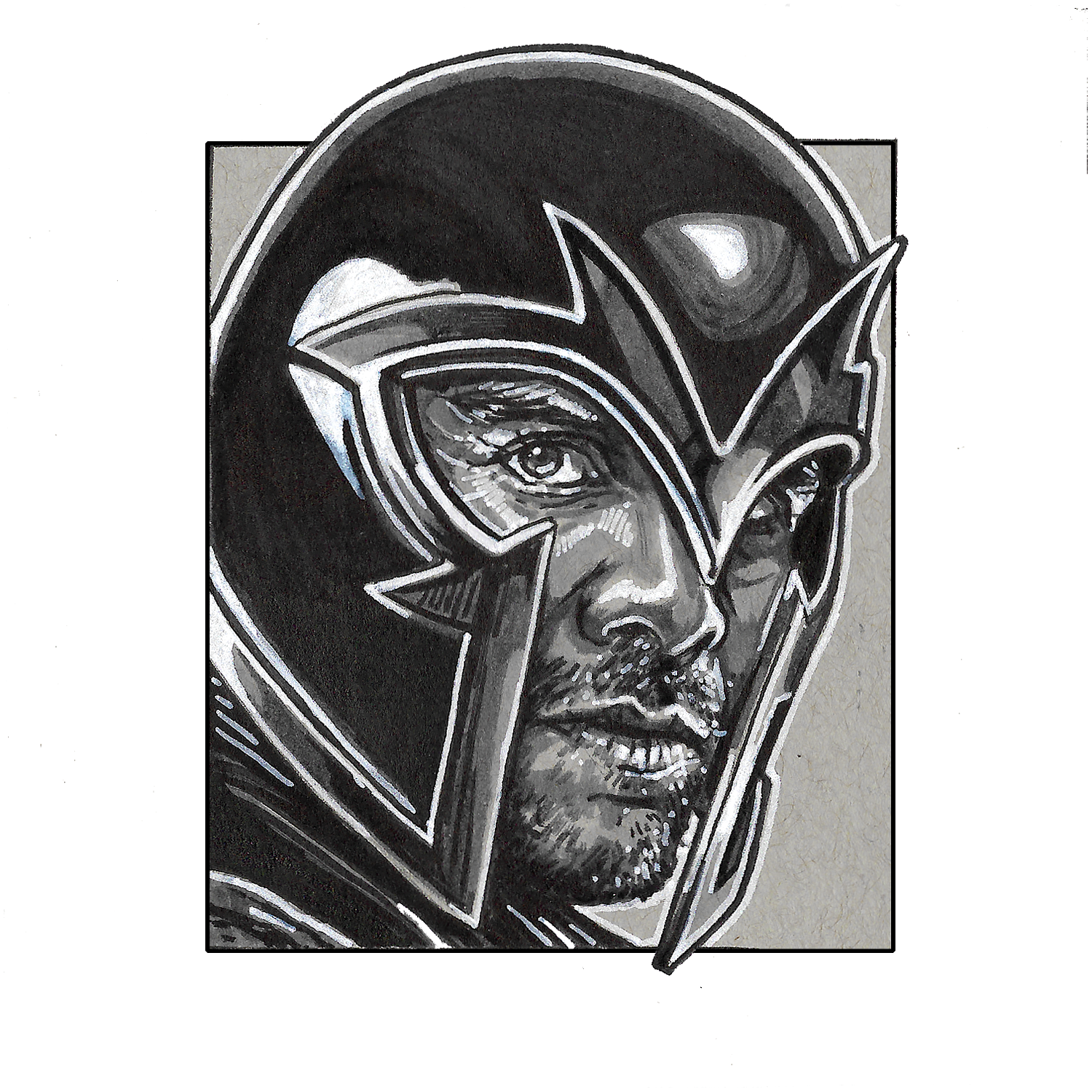 Magneto – Square Print by Robert Bruno