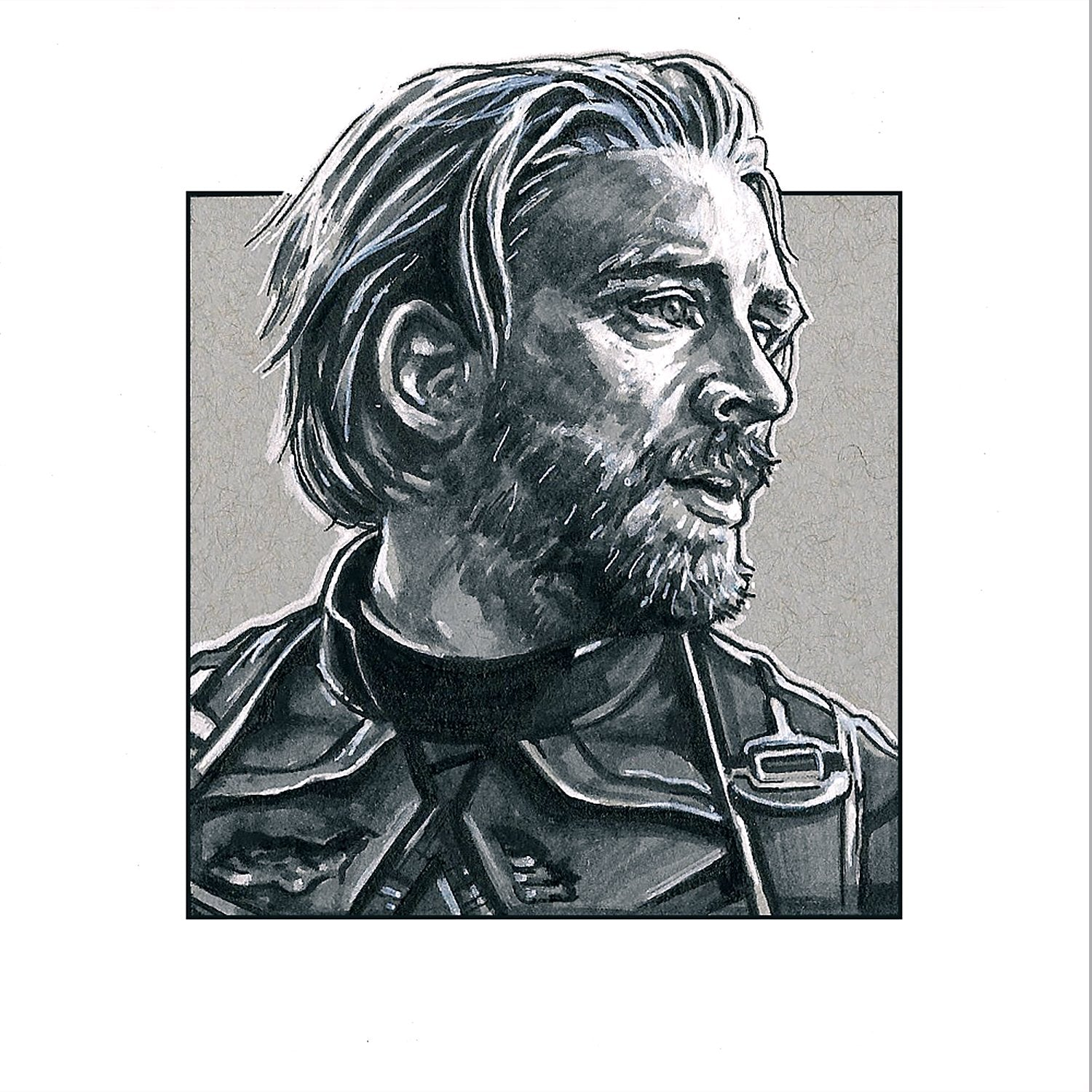 Steve Rogers – Square Print by Robert Bruno
