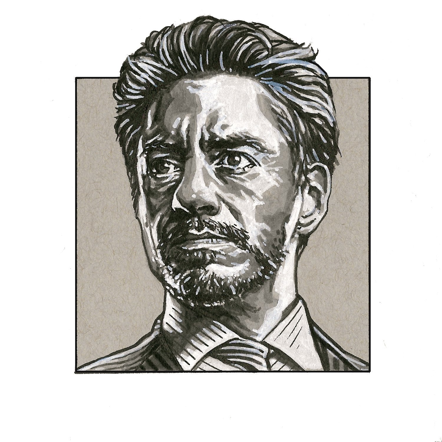 Tony Stark – Square Print by Robert Bruno