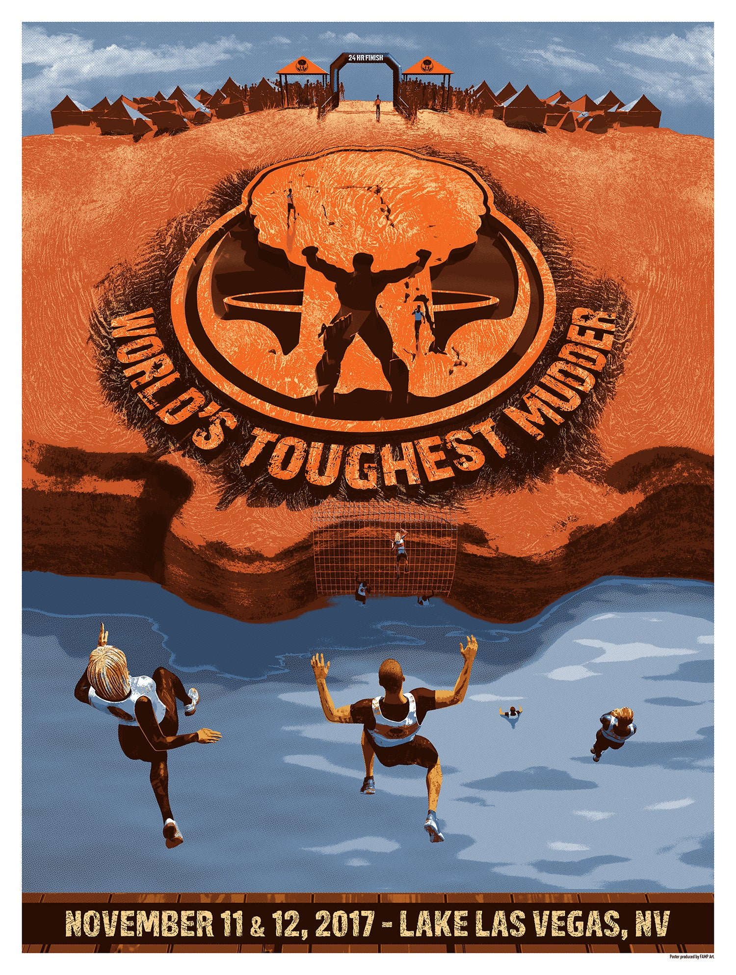 World's Toughest Mudder 2017 Event Print-Skinner