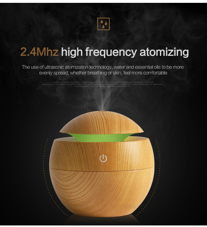 USB Aromatherapy Diffuser and LED Nightlight