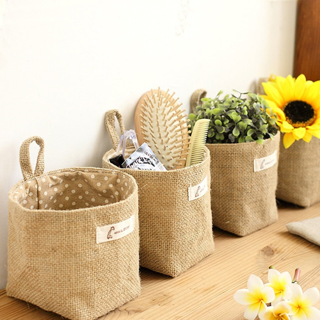 Rustic Cloth Storage Bag