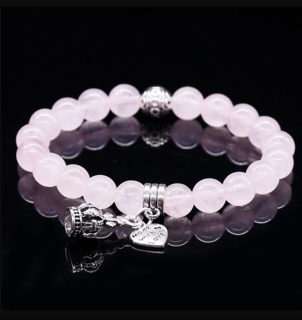 Bracelet Quartz Rose et Charms