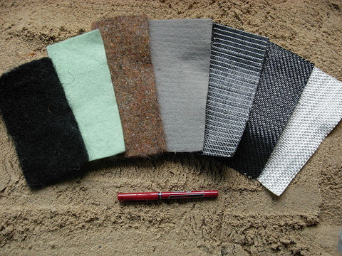 Different types of Geotextile fabrics