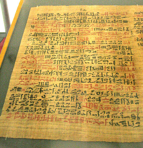 Ebers Papyrus - earliest written history of dried herbs