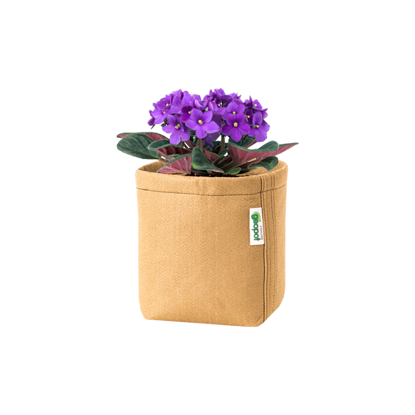 Tan Square Bottom GeoPot - GeoPot Aerated Fabric Pots