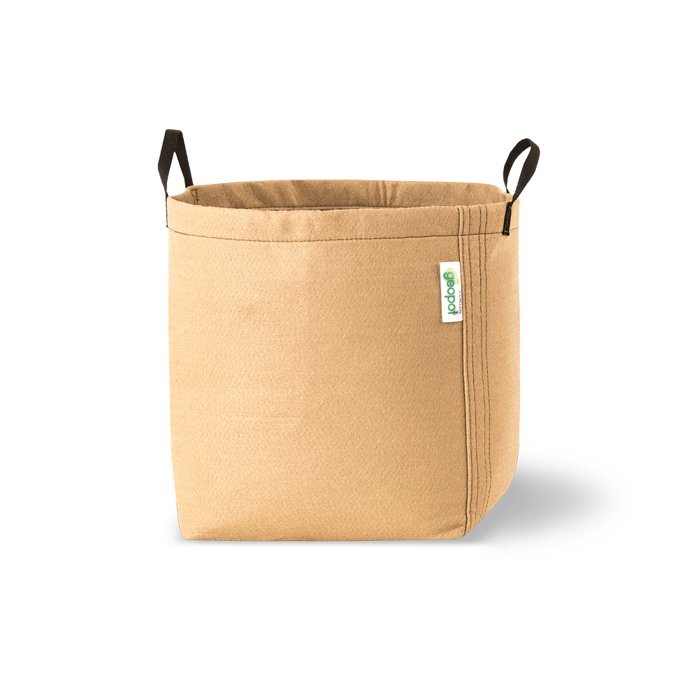 Geopot Fabric Gardening Pot with Handles (Tan) - GeoPot - Geopot.com