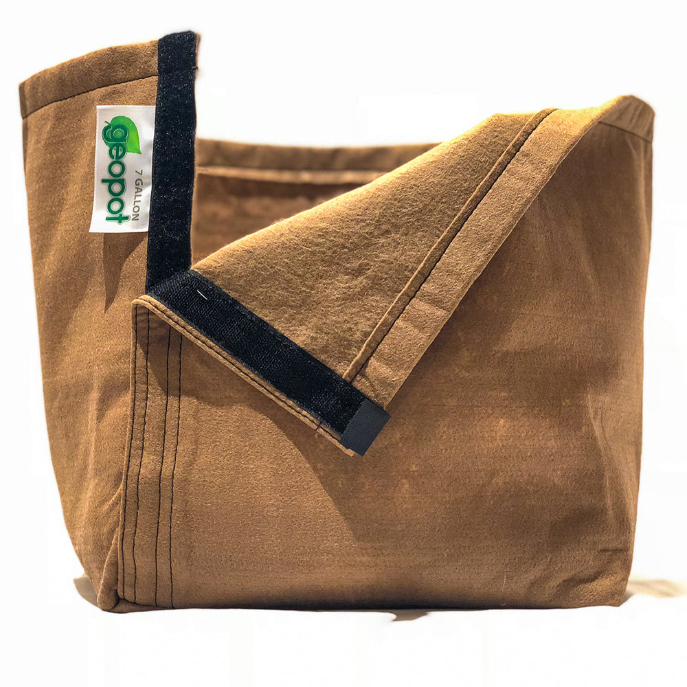 Geopot Fabric Transplanter Pot with Velcro Seam (Tan) - GeoPot - Geopot.com