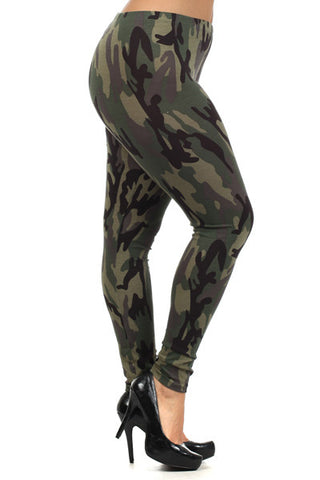 Camo Leggings *PLUS*