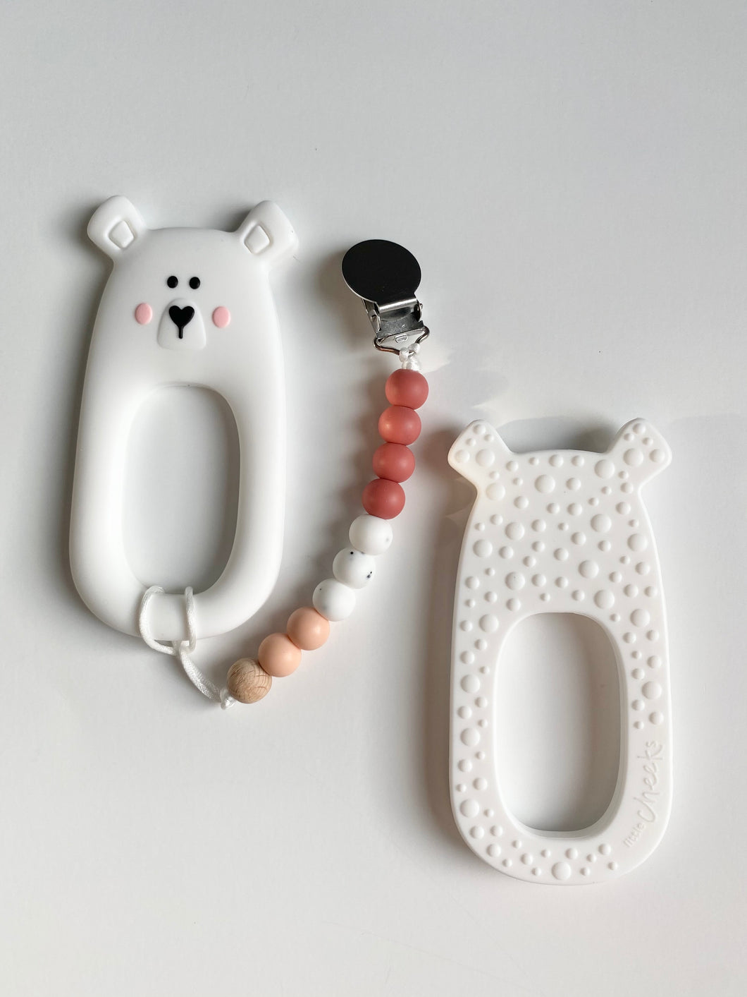 Bear teether with Clip