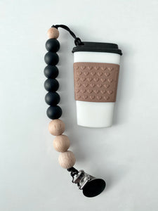 Coffee Teether with clip