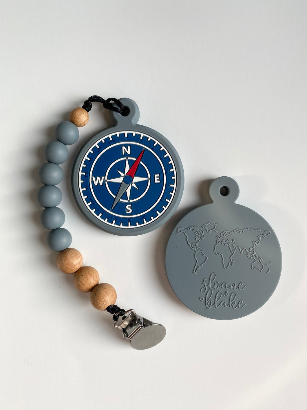Compass teether with Clip