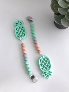 Mini Pineapple teether with clip