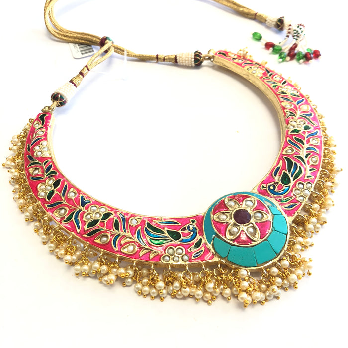 Meenakari Handpainted Necklace Set