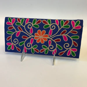 Multicolor Embroidered Wallets
