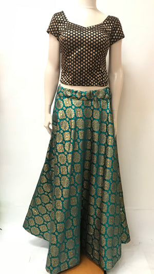 Banarasi Skirt- Green