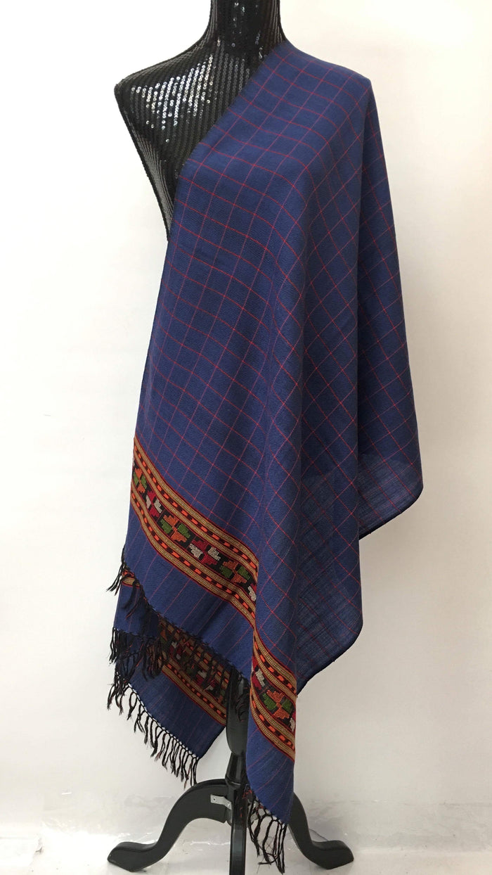 Kullu Handmade/Handloom Wool Shawl/Stole Large Wrap Scarf Throw/Woolen Blanket